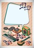 Creative music Template Flyer Brochure Vector Paper Design Template Royalty Free Stock Photos