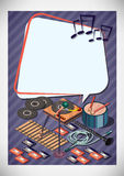 Creative music Template Flyer Brochure Vector Paper Design Template Royalty Free Stock Image