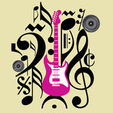 Creative musical icon for concert Royalty Free Stock Photo