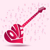 Creative musical icon for concert and love Stock Photography