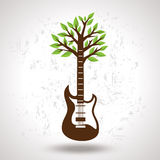 Creative musical tree on white background Royalty Free Stock Image