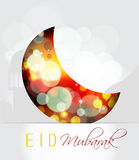 Creative Muslim community festival, Eid Mubarak. Royalty Free Stock Photography