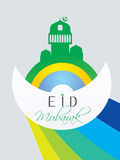 Creative Muslim community festival Eid Mubarak. Stock Photography