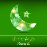 Creative Muslim community festival Eid Mubarak. Royalty Free Stock Photography