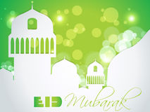 Creative Muslim community festival Eid Mubarak. Royalty Free Stock Photos