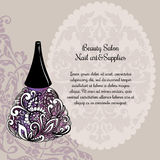 Creative nail lacquer promotional poster Stock Images