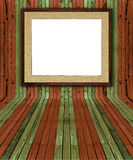 Creative natural pine plank interior Royalty Free Stock Image