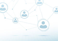Creative networking concept - social connections Stock Photography