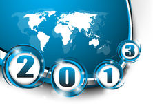 Creative New Year 2013. Clip-art Royalty Free Stock Photography