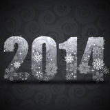 Creative new year background. Creative 2014 new year greeting background Stock Images