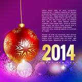 Creative new year background. Creative 2014 new year greeting background Stock Image