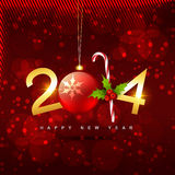 Creative 2014 new year. Beautiful shiny golden creative happy new year vector design Royalty Free Stock Photo