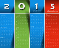 Creative New Year Calendar. 2015 Background Stock Images