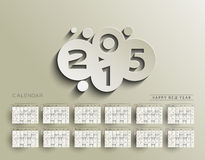 Creative New Year Calendar. 2015 Background Royalty Free Stock Image