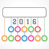 Creative New Year 2016 calendar design Stock Photography