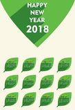 New year 2018 calendar template design. Creative new year calendar 2018 template design using green leaf vector illustration