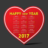 Creative New Year calender for 2017. Vector Illustration of Creative New Year calender for 2017 Royalty Free Stock Image