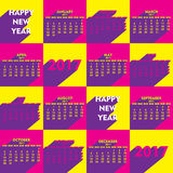Creative New Year calender for 2017. Vector Illustration of Creative New Year calender for 2017 Stock Photos