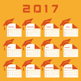 Creative New Year calender for 2017 Royalty Free Stock Images