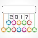 Creative New Year calender for 2017. Vector Illustration of Creative New Year calender for 2017 Royalty Free Stock Photography