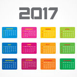 Creative New Year calender for 2017 Royalty Free Stock Photos