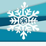 Creative New year card. Asymmetric snowflake Stock Photo