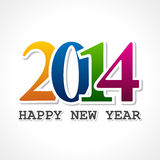 Creative new year,2014 concept. Illustration of Creative new year,2014 concept Royalty Free Stock Images