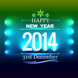 Creative new year design. Creative glowing style happy new year design royalty free illustration