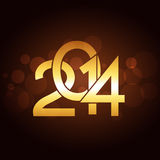 Creative new year design. Creative golden happy new year design Royalty Free Illustration
