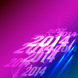 Creative new year design. Creative 2014 new year greeting background Royalty Free Stock Image