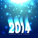 Creative new year design. Stylish creative glowing happy new year design royalty free illustration