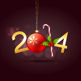 Creative new year design. Vector creative 2014 new year design Royalty Free Stock Photography