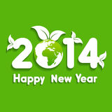 Creative new year with eco earth,2014 Stock Photo