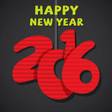 Creative new year 2016 greeting design. Creative new year 2016 greeting card design Royalty Free Stock Images