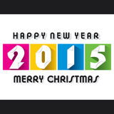 Creative  new year 2015 greeting design. Creative colorful new year 2015 greeting paper cut design Stock Images