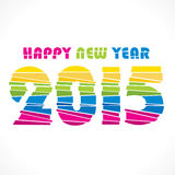 Creative  new year 2015 greeting design. Creative colorful new year 2015 greeting paper cut design Royalty Free Stock Photos