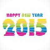 Creative new year 2015 greeting design. Creative colorful new year 2015 greeting paper cut design Vector Illustration