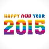 Creative new year 2015 greeting design. Creative colorful new year 2015 greeting wave pattern design Royalty Free Illustration