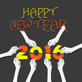 Creative new year 2016 greeting design Stock Photo