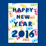 Creative new year 2016 greeting design. Creative Happy new year 2016 poster design Vector Illustration