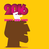 Creative new year 2016 greeting design Stock Photography