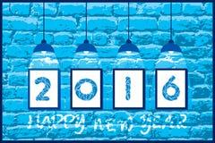 Creative new year 2016 greeting design Royalty Free Stock Photo