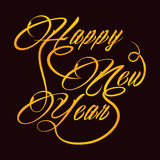 Creative new year greeting. Vector illustration Royalty Free Stock Photography