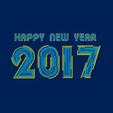 Creative New Year Greeting for 2017 Stock Photos