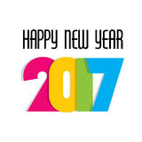 Creative New Year Greeting for 2017 Stock Image