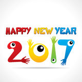 Creative New Year Greeting for 2017 Royalty Free Stock Images