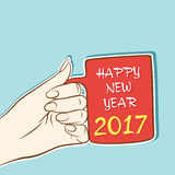 Creative New Year Greeting for 2017 Royalty Free Stock Photo