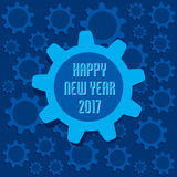 Creative New Year Greeting for 2017. Vector Illustration of Creative New Year Greeting for 2017 Stock Photo