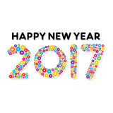 Creative New Year Greeting for 2017. Vector Illustration of Creative New Year Greeting for 2017 Royalty Free Stock Photos