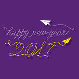 Creative New Year Greeting for 2017 Stock Photo